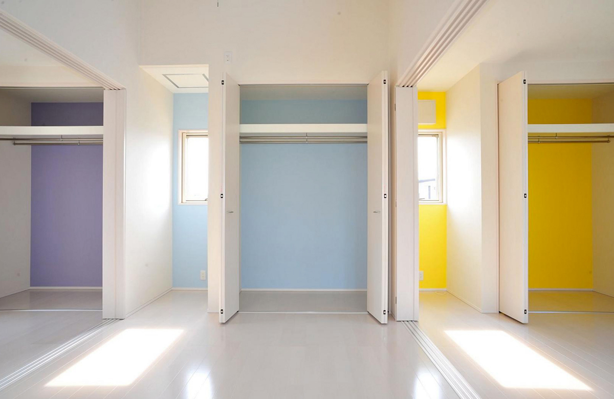 2階洋室は、3つの部屋がつながるレイアウト